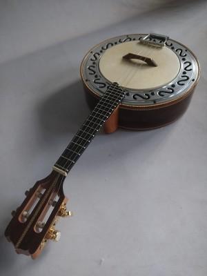 Banjo n°3 de Jacarandá com prato cromado (45 A 60 DIAS ÚTEIS PARA CONTRUÇÃO) **FAVOR, OLHAR A DESCRIÇÃO**